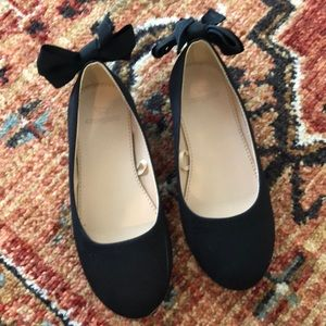 Crew Cuts Girls Size 13 Black Bow Shoes 🎀